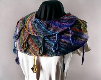 Drop Leaf Knitting Pattern : In the Pavillion Hand Fan Crochet Pattern Instant Download