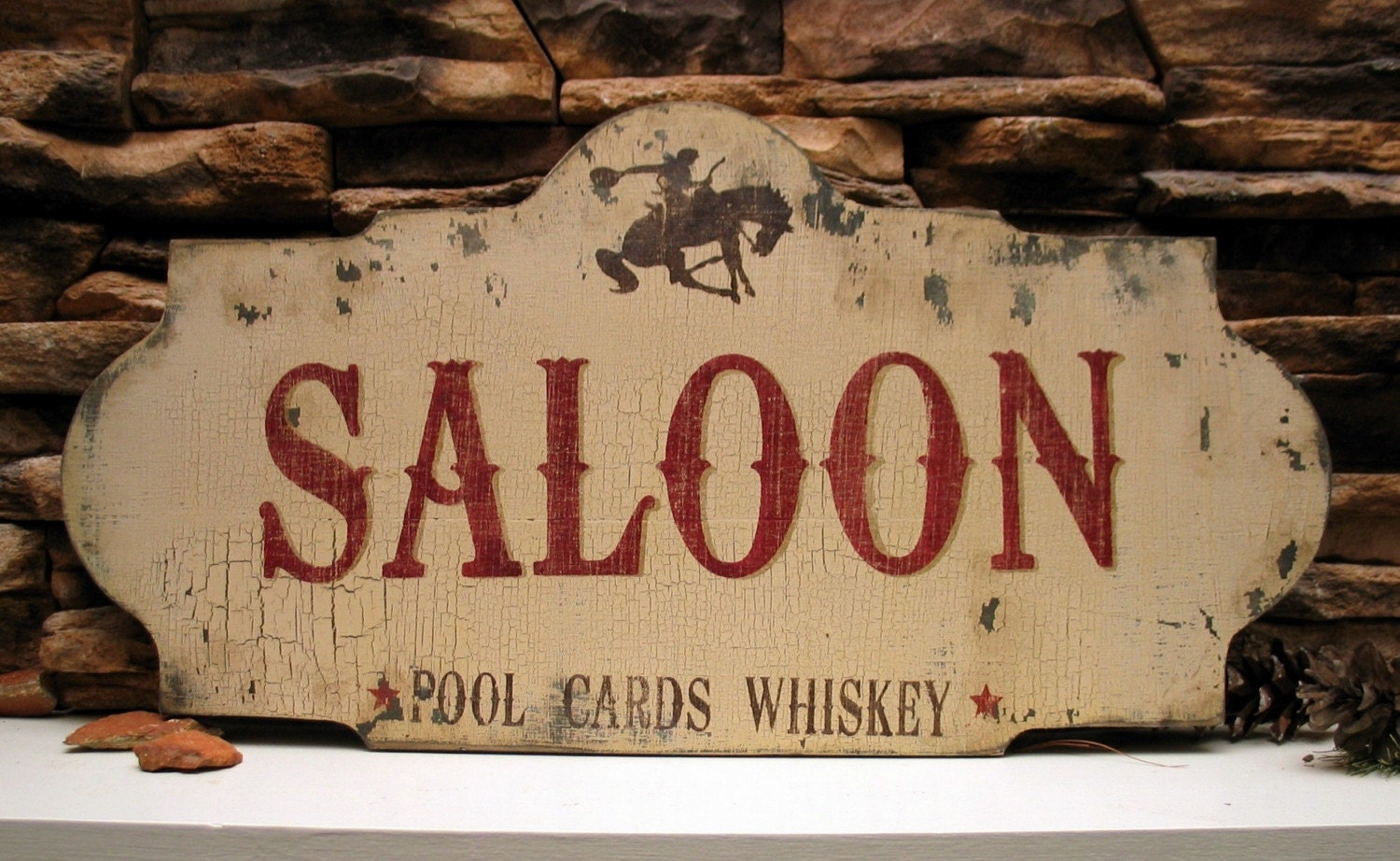 Saloon bar pool cards whiskey cowboy western by signsbydiane