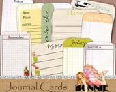 Digital journal cards