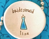 RESERVED FOR bluehotel - Personalized Bridesmaid Keepsake Dish Set of Four