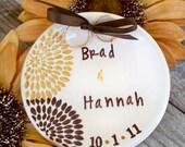 Starburst Ring Bearer Bowl, Personalized Ring Pillow, Wedding Ring Holder, Wedding Ring Bowl, Ring Warming Ceremony, Ring Pillow Alternative
