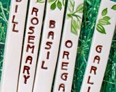Herb Garden Markers Set of Five - Garden Stakes