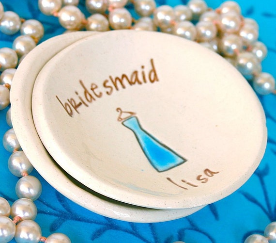 Bridesmaid Gift Jewelry Dish - Ring Dish - Ring Bowl - Personalized Gift for Bridesmaid - Wedding Party Gifts - Maid of Honor - Jewelry Bowl