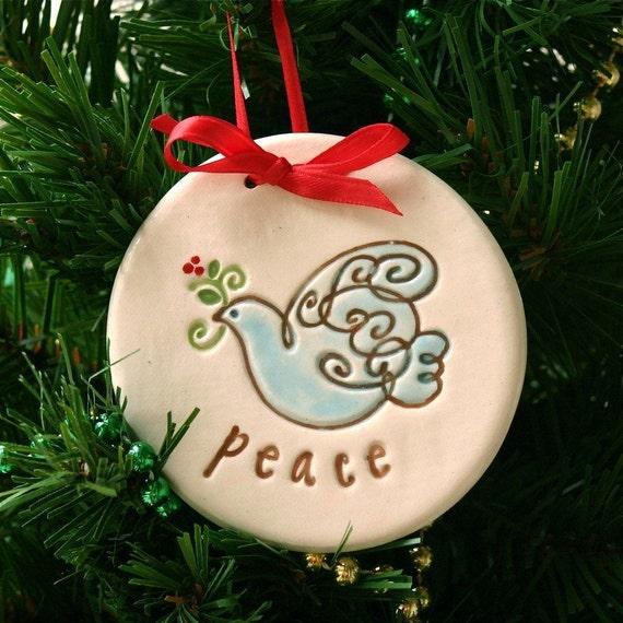 Christmas Ornament Peace Dove
