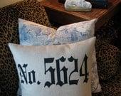 Old English Address Pillow