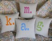 Typewriter Monogram pillow