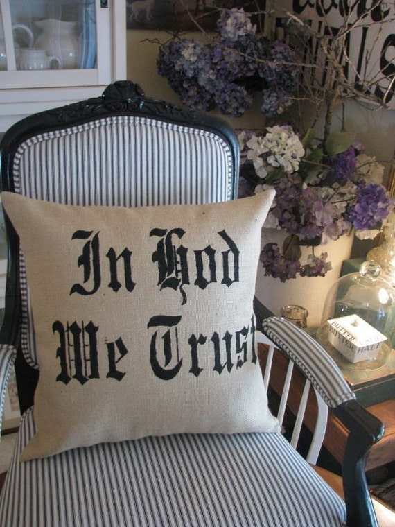 In God We Trust pillow