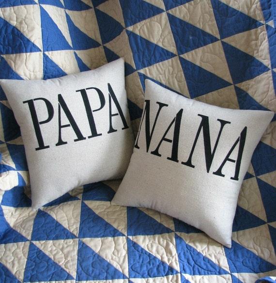 Grandparent pillows/pair