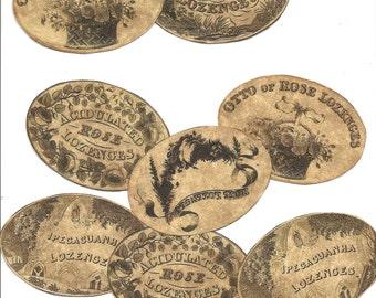 25 Vintage look LABELS primitive labels a very Old vintage look  set of labels