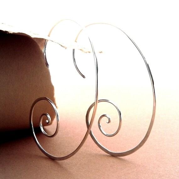 Skeleton Shell Sterling Silver  Artisan Earrings by JoJoBell on Etsy