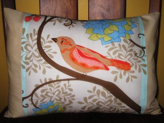 Pillow Cover Bird Cotton 12x16