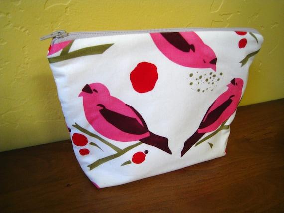 Sale Travel Bag Cosmetic Zippered Bird Seed