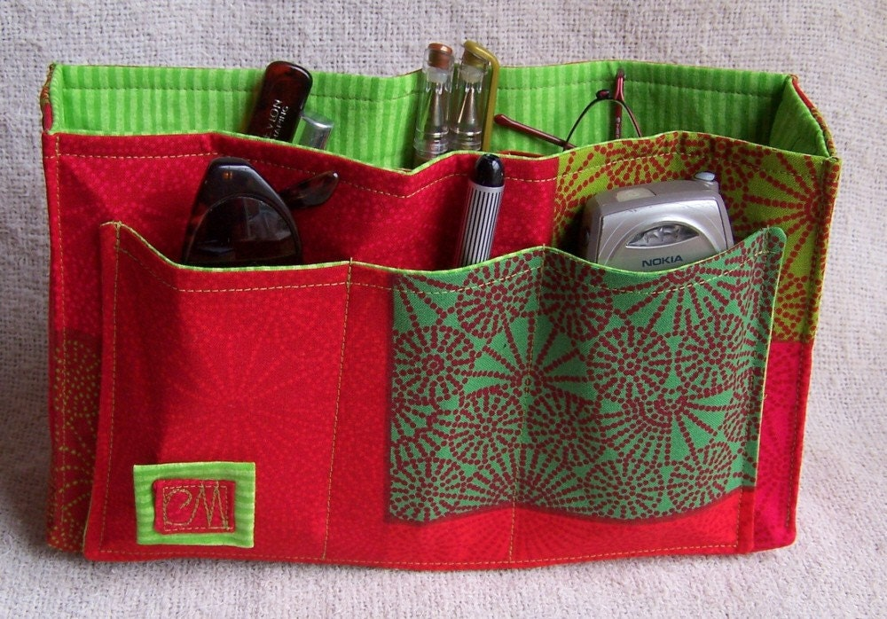 SALE DIY Purse Organizer Kit Red Hot and Green with Envy II