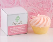 Mini Pink Cupcake Soap - Glycerin and Shea Butter (Vegan) - Easter Gifts