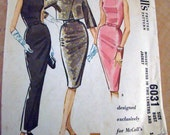 Vintage 1960s Pauline Trigere Designed Sewing Pattern for Wiggle Dress and Bolero in Size 14 - 34 Bust