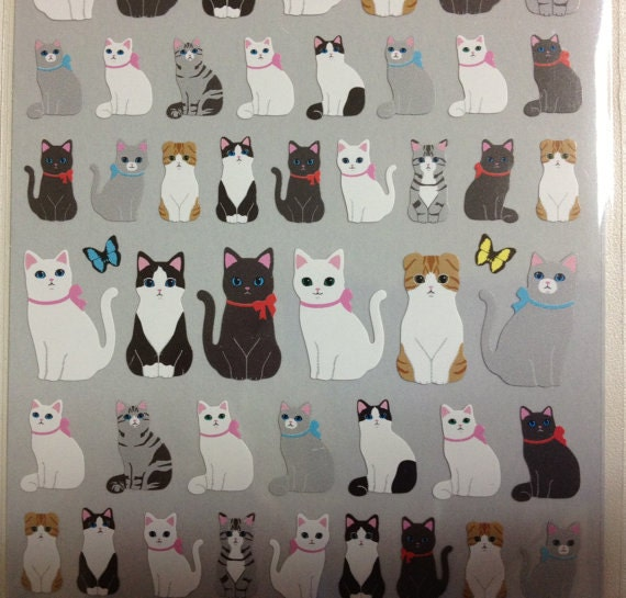 Flat Stickers - CATS by Q-Lia
