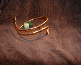 Crystal Healing  Immune System Copper Bangle