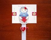 Lovely Matryoshka - Bow Holder and Clip Set
