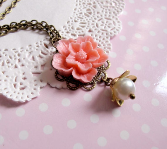 Pretty in Pink - Sakura Cherry Blossom Necklace