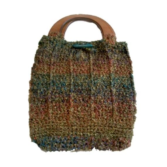 Crocheted Handbag Rich Earth Tones