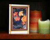 Autumn Leaves OOAK handmade photo card