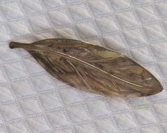 Leaf Brooch . Silver Leaf Brooch . Art Deco brooch .  Leaf Brooch . German art deco brooch