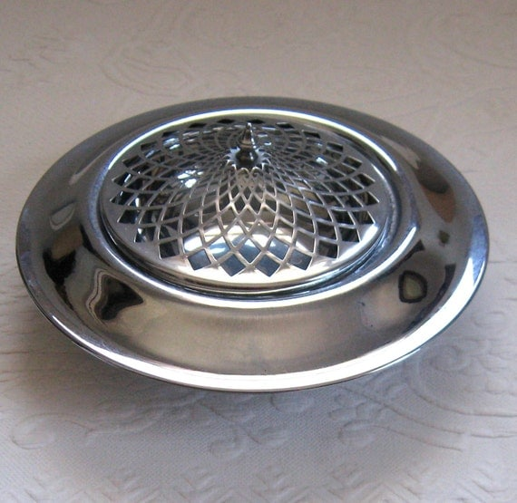 Vintage ART DECO Hotel Chrome Covered Dish 1930