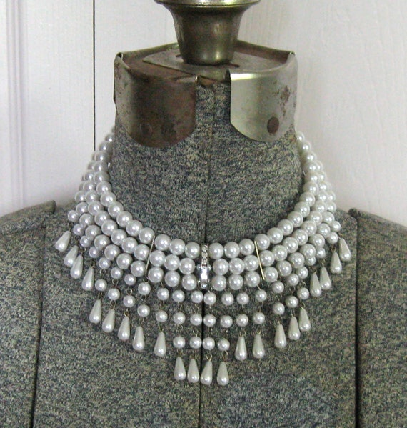 Vintage FABULOUS PEARL CHOKER 1960s Reserved