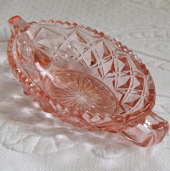 Vintage Pink Depression Glass CANDY DISH 1930s