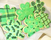 SALE SHAMROCK COOKIES-Decorated sugar cookie with rich Buttercream frosting St. Patrick's Day Goodies LIMITED TIME SALE OFFER