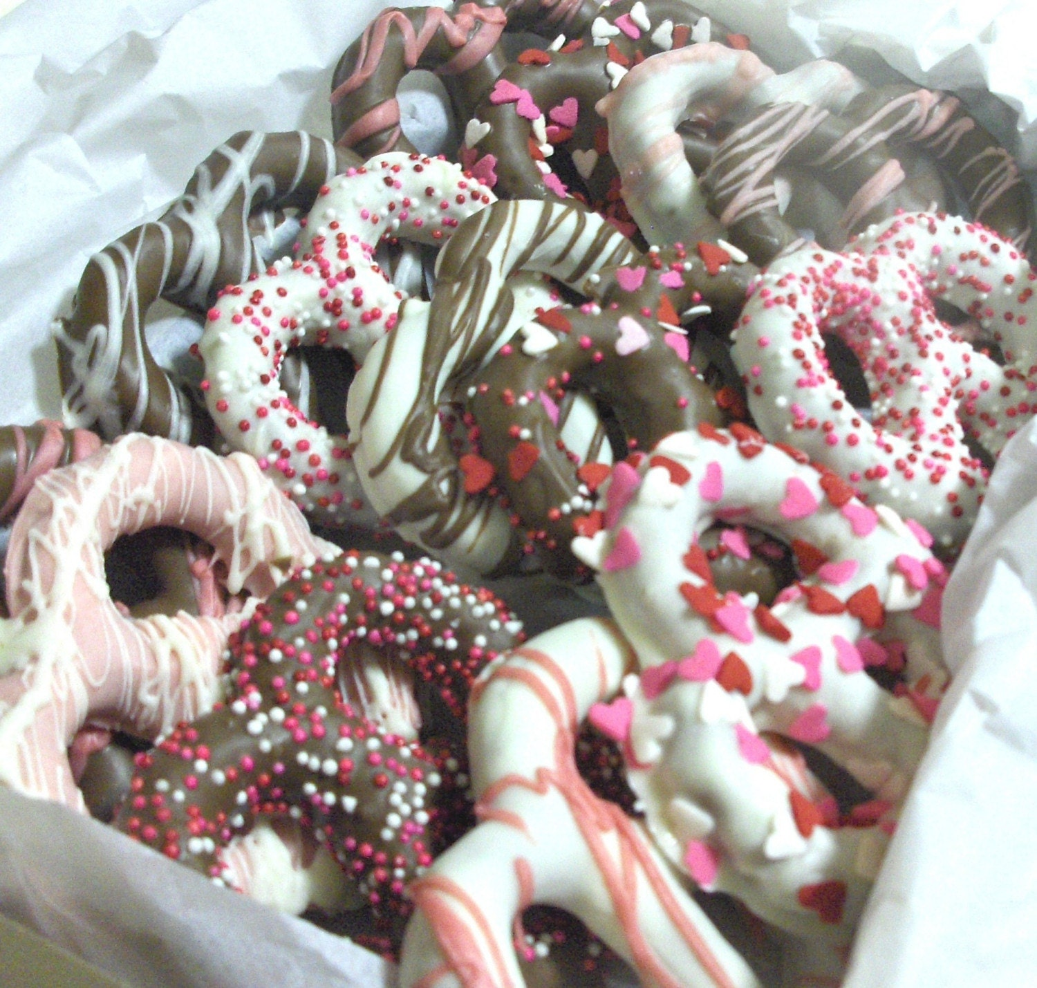 Valentine Candy Chocolate Covered Pretzels Gourmet Treat