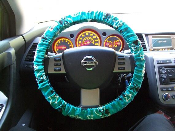 SALE Blue Skulls and Stars Steering Wheel Cover