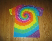 Tie Dyed Rainbow Spiral Tshirt Size Youth Medium Reserved for lalletti