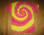 Tie Dyed Tshirt Red-Orange-Yellow Spiral Reserved for lalletti