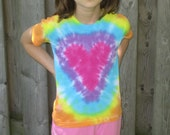 Child Small Tie Dyed Heart Tshirt