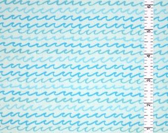 Beach Babe - Blue Waves 100% Cotton Fabric