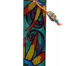 Two Sunflowers in the Summer Garden - Beaded Bookmark