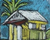 Negril Jamaica - On the Drive to Mayfield Falls  - 8 X10 - Original Pastel