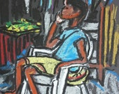 Jamaica - Going to Market - 8 X10 - Original Pastel