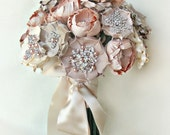 Luly Blush Silk Flower Bouquet - Made to Order - 6 Weeks to Ship