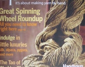 2 Spin-off Magazines Fall 2008 and Summer 2008 fiber and spinning knittin patterns