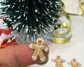 Wee Gingerbread Ladies, 6 Dollhouse Cookies, Tree Ornaments, Christmas Dollhouse, Holiday Decor, Tiny Gifts, Artisan Food