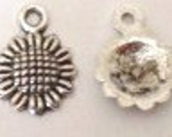 30 Sunflower Charms (approximately) 16X12mm