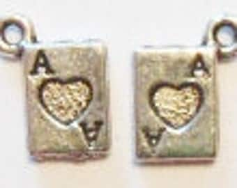 12 Playing Card Charms (double sided) 11x6mm ITEM:Z16