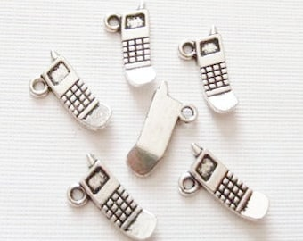 10 Cell Phone Charms 19x10mm ITEM:Y11