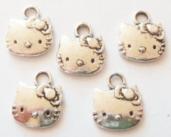 10 Kitty Charms 13x11