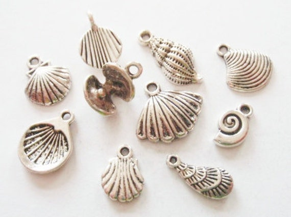 10 Assorted Seashell Charms