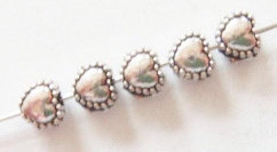 150 Heart Spacer Beads  5.50x5x3.50mm ITEM:AQ8