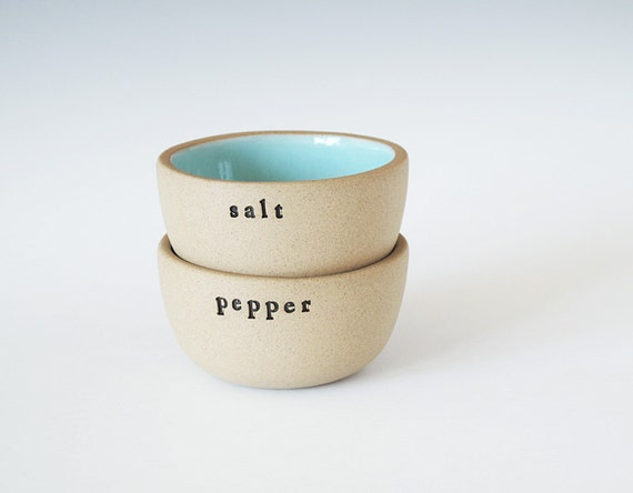 salt and pepper bowls.