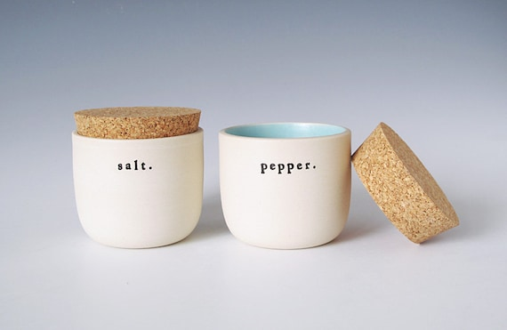 salt and pepper jars.